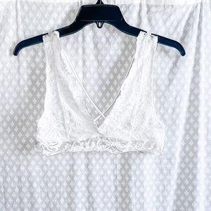 White lace bralette